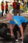 Hannes deadlift at the 2011 Africa regionals